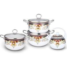 Набор эмалированной посуды 7 предметов Kelli (KL-4442)
