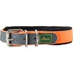 Ошейник Hunter Convenience Comfort 35 neonorange (22-30см) биотановый мягкая горловина оранжевый неон для собак