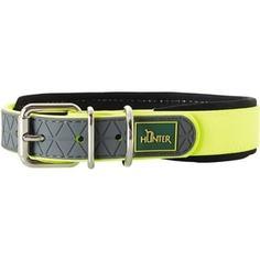 Ошейник Hunter Convenience Comfort 40 neongelb (27-35см) биотановый мягкая горловина желтый неон для собак
