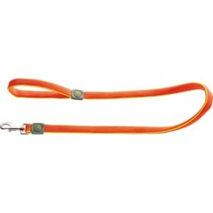 Поводок Hunter Leash Maui 25/120 сетчатый текстиль оранжевый для собак