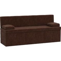 Кухонный диван АртМебель Лео микровельвет коричневый