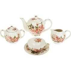 Чайный сервиз 15 предметов Best Home Porcelain Рубиновые розы (M1270296)