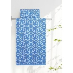 Полотенце Aquarelle Стамбул, белый-спокойный синий 70x140 (710397)
