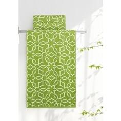 Полотенце Aquarelle Стамбул, белый-травяной 70x140 (710398)