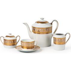 Сервиз чайный 15 предметов La Rose des Sables Mimosa Didon Or (539509 1645)