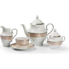 Сервиз чайный 15 предметов La Rose des Sables Tanite Victoire Platine (659512 1489)