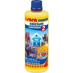 Препарат SERA MARINE CALCIUM COMPONENT 2 pH-Buffer насыщение воды кальцием для морских аквариумов 500мл