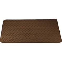 Коврик для ванной Swensa 60х90 см Punto коричневый, Memory foam, полиэстер (SWM-6020-BROWN)