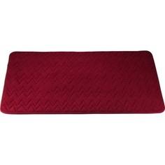 Коврик для ванной Swensa 60х90 см Punto бордо, Memory foam, полиэстер (SWM-6020-BORDO)
