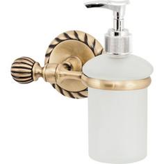 Дозатор для жидкого мыла Swensa стекло/античная бронза (11810)
