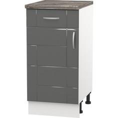Шкаф напольный с дверью и ящиком СМК Виктория 40х85