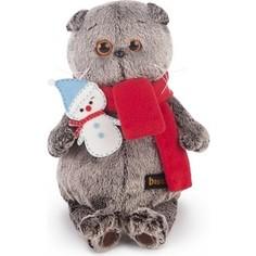 Мягкая игрушка Budi Basa Басик в шарфике со снеговичком (Ks19-073)