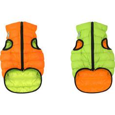 Курточка CoLLaR AiryVest двухсторонняя оранжево-салатовая размер XS 22 для собак (1706)