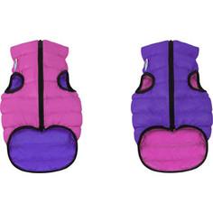 Курточка CoLLaR AiryVest двухсторонняя розово-фиолетовая размер S 40 для собак (1581)