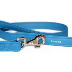 Поводок CoLLaR Brilliance из лаковой кожи двойной 122см*13мм синий для собак (31202)