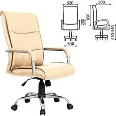 Кресло офисное Brabix Space EX-508 экокожа хром бежевое 531165
