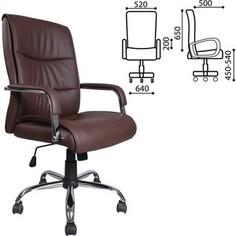Кресло офисное Brabix Space EX-508 экокожа хром коричневое 531164