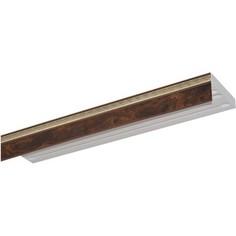 Карниз потолочный пластиковый DDA Прямой Греция трехрядный коричневый 3.6