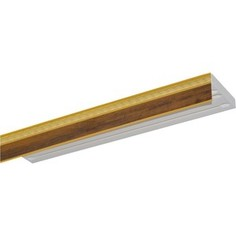 Карниз потолочный пластиковый DDA Прямой Греция трехрядный орех бежевый 3.6
