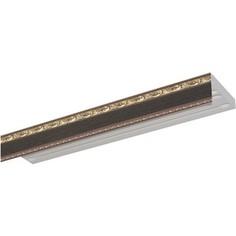 Карниз потолочный пластиковый DDA Прямой Гранд двухрядный венге 3.6