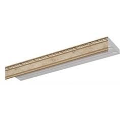 Карниз потолочный пластиковый DDA Прямой Гранд трехрядный бронза 2.4