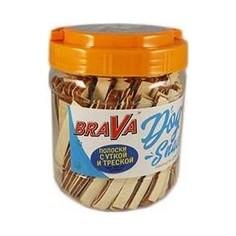 Лакомство BraVa Dog Snacks полоски с уткой и треской для собак 750 г (110702)