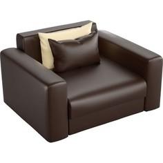 Кресло АртМебель Мэдисон эко-кожа коричневый