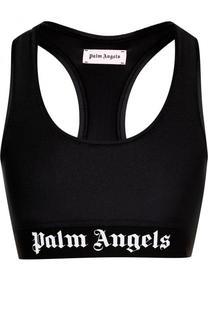 Спортивный кроп-топ с логотипом бренда Palm Angels