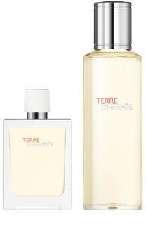 Набор: Туалетная вода Terre d'Hermès Eau Très Fraîche + refill Hermès