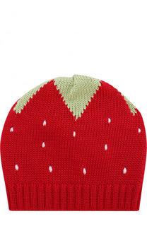 Хлопковая шапка с принтом Catya