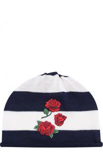 Хлопковая шапка с аппликацией Catya