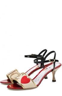 Босоножки Keira с принтом на каблуке kitten heel Dolce & Gabbana