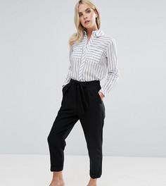 Укороченные брюки-галифе с поясом ASOS PETITE - Черный