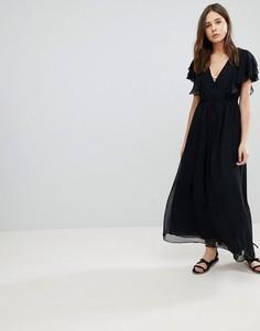 Платье макси с оборками Glamorous - Черный