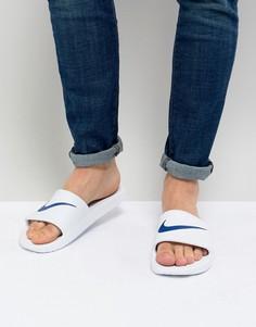 Белые шлепанцы Nike Kawa 832528-100 - Белый