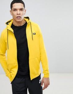 Худи желтого цвета на молнии Nike Modern 805130-713 - Желтый