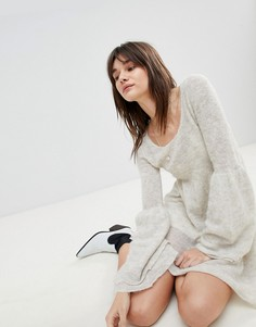 Платье мини с добавлением шерсти альпака Free People Juliet - Белый