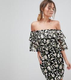 Многослойное платье мини с вышивкой Dolly & Delicious - Мульти