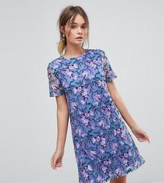 Платье-трапеция с вышивкой Dolly & Delicious - Мульти