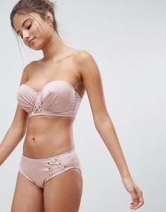 Плавки бикини со шнуровкой Lepel London - Розовый