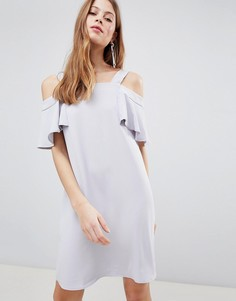 Платье А-силуэта с вырезами на плечах Glamorous - Серый