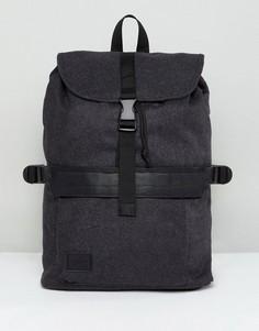 Темно-серый рюкзак из плотного сукна с застежкой ASOS - Серый