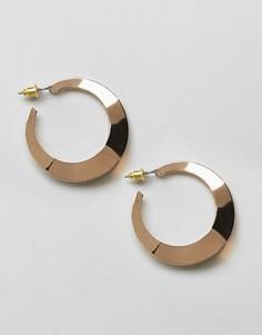Серьги-кольца с отделкой ASOS DESIGN - Золотой