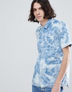 Мраморная рубашка с короткими рукавами Levis - Синий