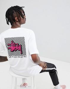 Белая футболка с принтом Stussy - Белый
