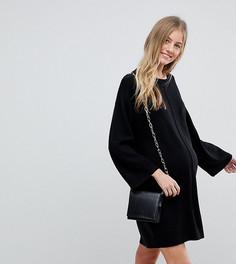 Oversize-платье с широкими рукавами ASOS Maternity - Черный