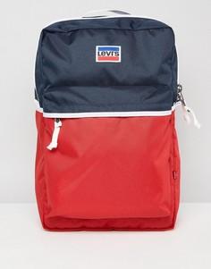 Рюкзак в стиле ретро с логотипом Levis - Темно-синий