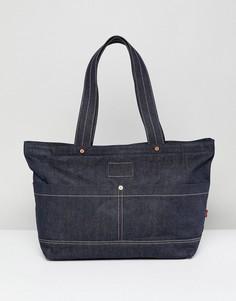 Джинсовая сумка-тоут с красным ярлыком Levis Icon - Синий