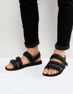 Черные сандалии с ремешками Armani Exchange - Черный