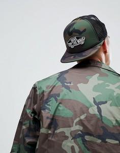 Камуфляжная кепка с нашивкой Vans Classic - Зеленый